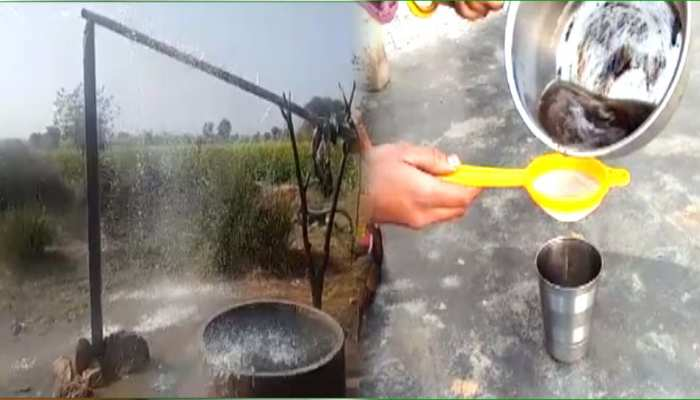भरतपुर: ट्यूबवेल से निकल रहा 'खौलता पानी', मिनटों में पका सकते चाय और चावल
