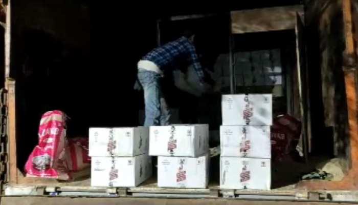 लखीसराय में शराब तस्करों पर पुलिस की छापेमारी, पकड़े गए शराब से लदे ट्रक