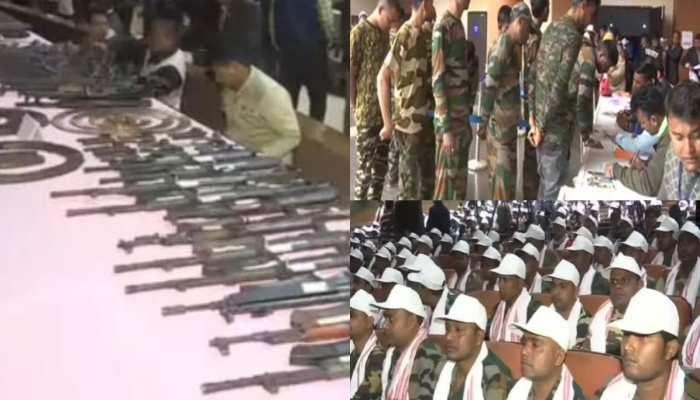 असम में सोनोवाल सरकार की बड़ी सफलता, हथियारों समेत 644 उग्रवादियों का समर्पण