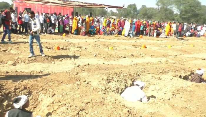 rajasthan dausa farmers samadhi agitation against land acquisition