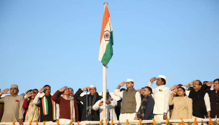 जयपुर: गणतंत्र दिवस पर कांग्रेस-भाजपा ने फिर निभाई परंपरा, एक ही जगह फहराया तिरंगा
