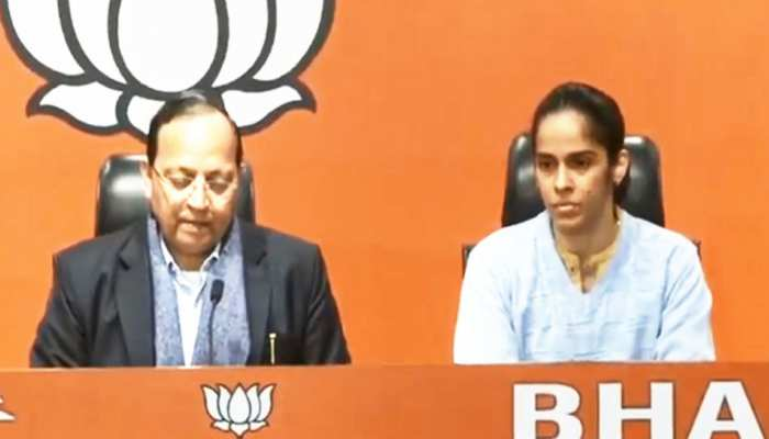 बैडमिंटन स्टार साइना नेहवाल BJP में शामिल, पीएम मोदी की ऐसे तारीफ की