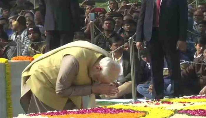 पुण्यतिथि पर देश का बापू को नमन, पीएम मोदी, राष्ट्रपति ने राजघाट जाकर दी श्रद्धांजलि