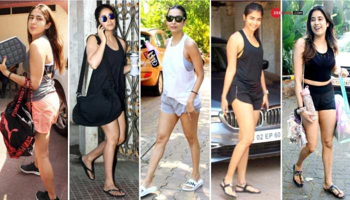Janhvi Kapoor, Sara Ali Khan and Malaika Arora's gym look, SEE PHOTOS