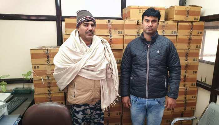 दिल्ली में वोटिंग से पहले पकड़ी गई अवैध शराब की बड़ी खेप, दो गिरफ्तार