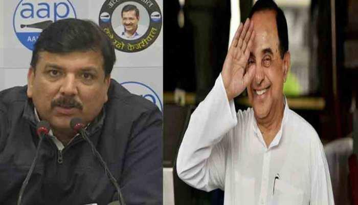 #VoteDaloDilli: सुब्रमण्यम स्वामी के ट्वीट से क्यों खुश हुए AAP नेता संजय सिंह?