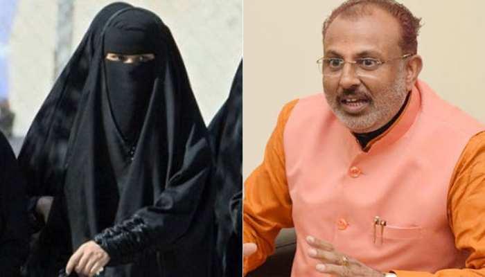 VIDEO:  योगी के मंत्री का विवादित बयान, कहा-''शैतान के वंशज पहनते हैं बुर्का, इसे बैन किया जाए''