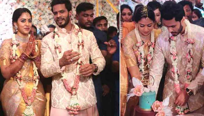 karnataka former cm HD Kumaraswamy son nikhil kumaraswamy engaged to revathi  in bengaluru