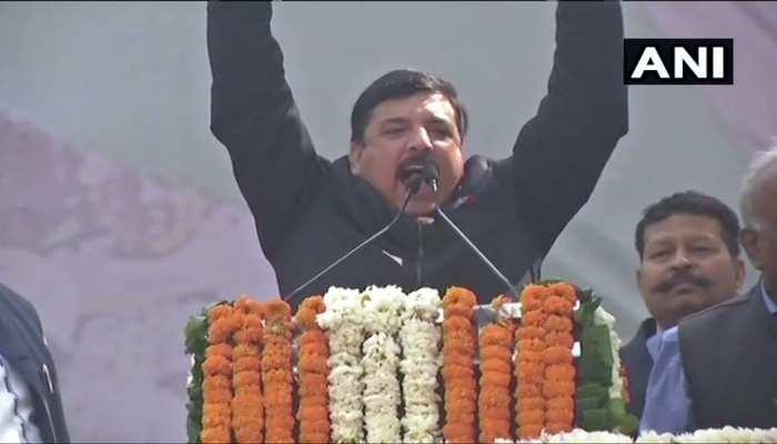 रुझानों में बहुमत से उत्साहित AAP के संजय सिंह, बोले- BJP सारी ताकत लगाने के बाद भी हार गई