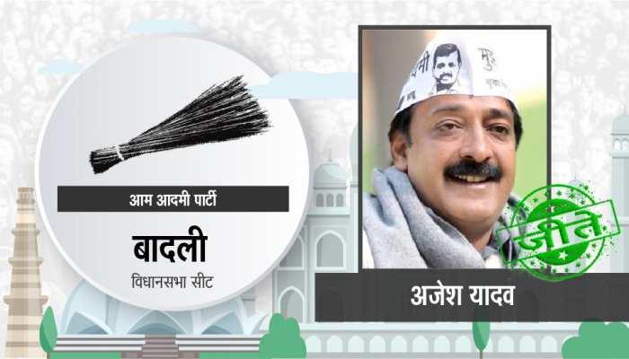 दिल्ली विधानसभा चुनाव: बादली सीट पर आप के अजेश यादव जीते