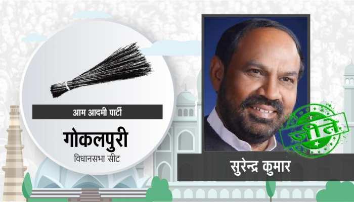 दिल्ली विधानसभा चुनाव: गोकलपुर से आप दोबारा जीते, सुरेंद्र कुमार बने विधायक