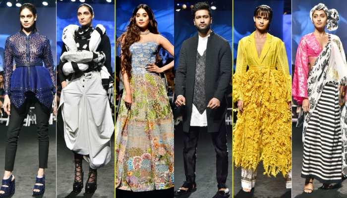 Lakme Fashion Week Vicky Kaushal, Janhvi Kapoor Celebrities on the ramp