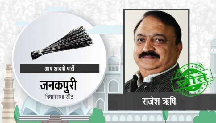 दिल्ली विधानसभा चुनाव: जनकपुरी सीट से आप के राजेश ऋषि दोबारा जीते