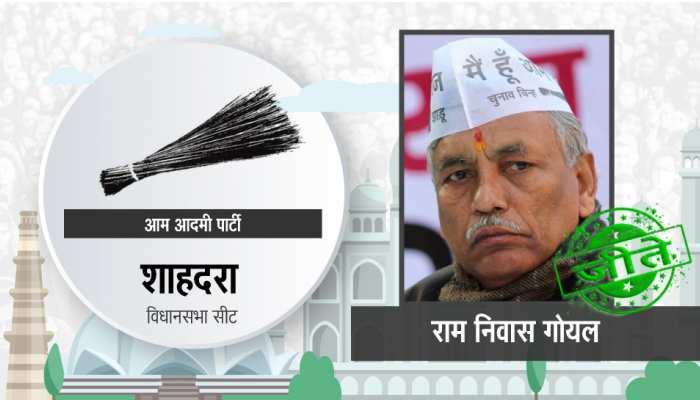 शाहदरा विधानसभा: आप के रामनिवास गोयल लगातार दूसरी बार बने विधायक, बीेजेपी हारी
