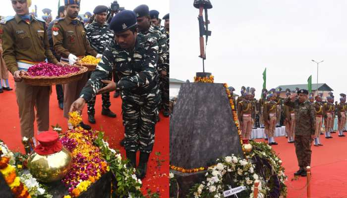 Pulwama Attack: Martyr's memorial in Lethpora, See the photos