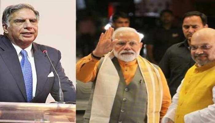 रतन टाटा ने PM मोदी और गृहमंत्री शाह की तारीफ की, दूरदर्शी फैसलों का किया स्वागत