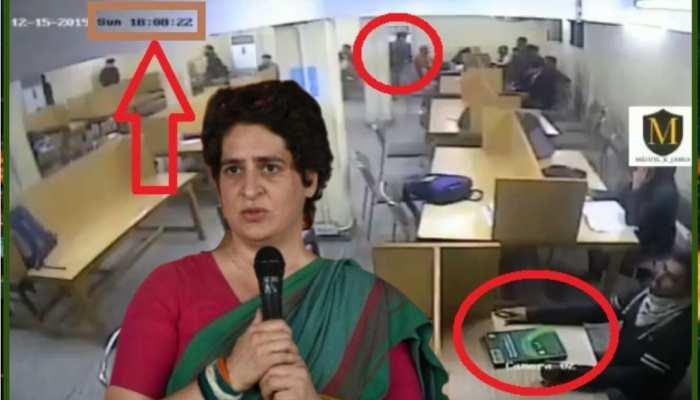 """""""आदत से मजबूर"""" है कांग्रेस, जामिया के 'Fake' वीडियो पर प्रियंका की 'गंदी राजनीति'"""