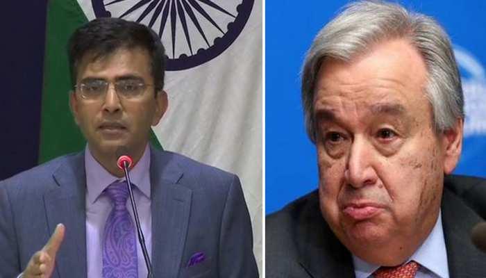 कश्मीर पर भारत का UN महासचिव को टो टूक जवाब- तीसरे पक्ष की मध्यस्थता का सवाल ही नहीं