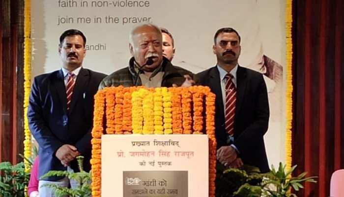 गांधी जी का विरोध करने वाले भी उन पर सवाल नहीं उठा सकते: मोहन भागवत