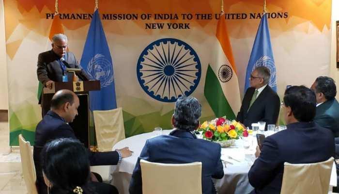 छत्तीसगढ़ के CM भूपेश बघेल पहुंचे UN हेडक्वार्टर, छत्रपति शिवाजी के जयंती कार्यक्रम में की शिरकत