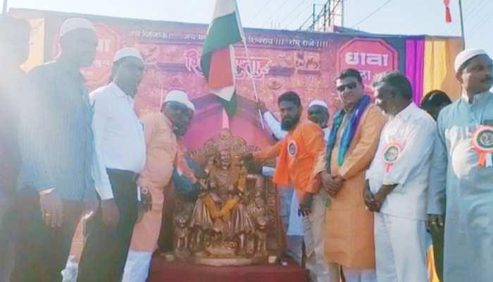 Muslim people celebrated Chhatrapati Shivaji Maharaj jayanti in latur