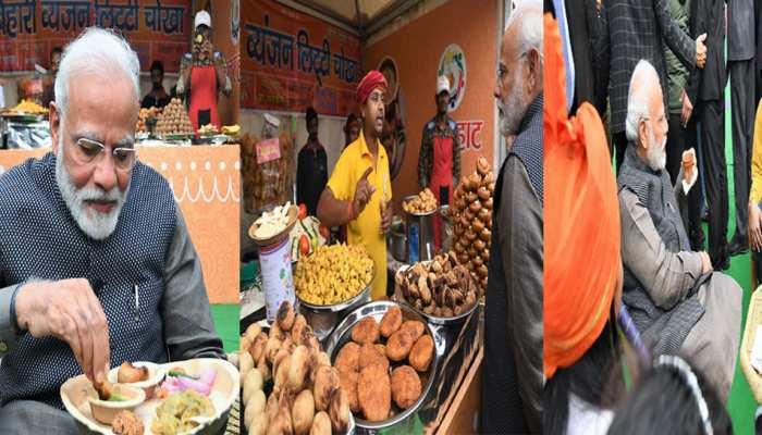 Hunar Haat: PM Modi tries litti-chokha and kulhad chai at India Gate