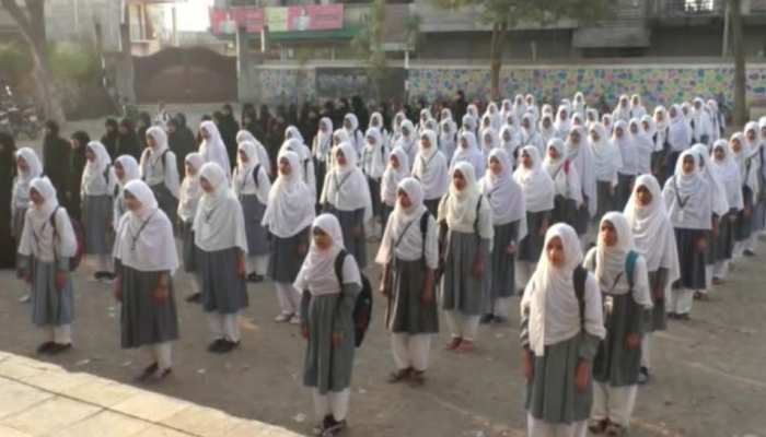 National Anthem in Malegaon's women minority college
