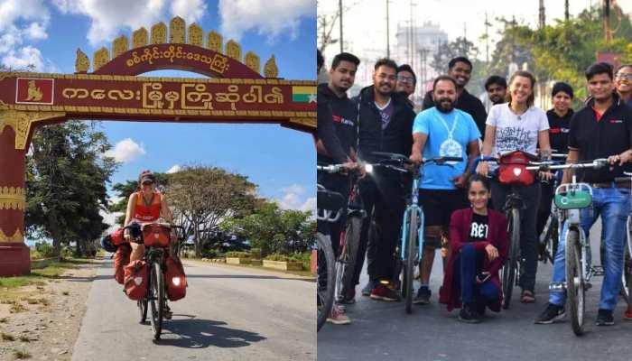 वियतनाम से साइकिल चलाकर रांची पहुंची लंदन की हैना, कहा- 'यह सफर आसान नहीं'