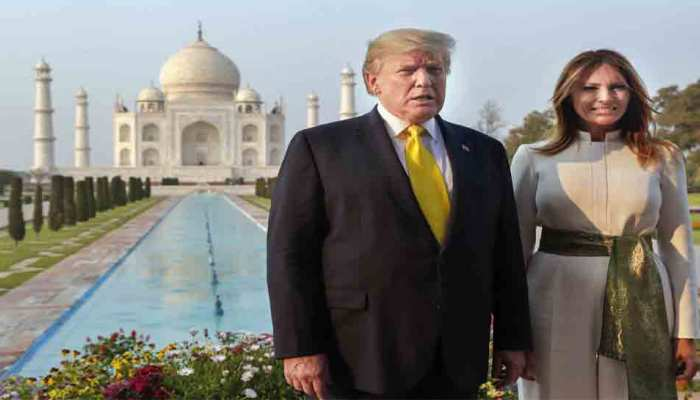 From paying homage at the Sabarmati Ashram to looking at the beauty of the Taj Mahal, see PICS of Donald Trump here