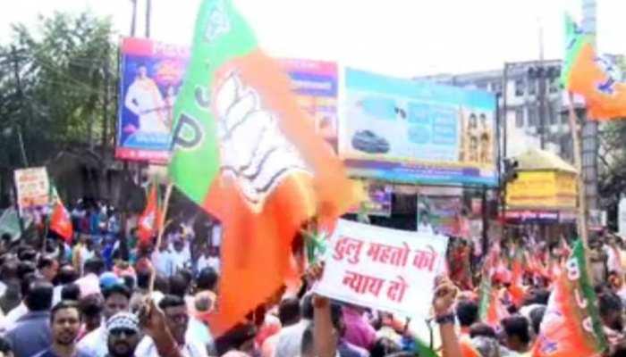 झारखंड: ढुल्लू महतो के बचाव में उतरे BJP कार्यकर्ता, पुलिस कार्रवाई का किया विरोध