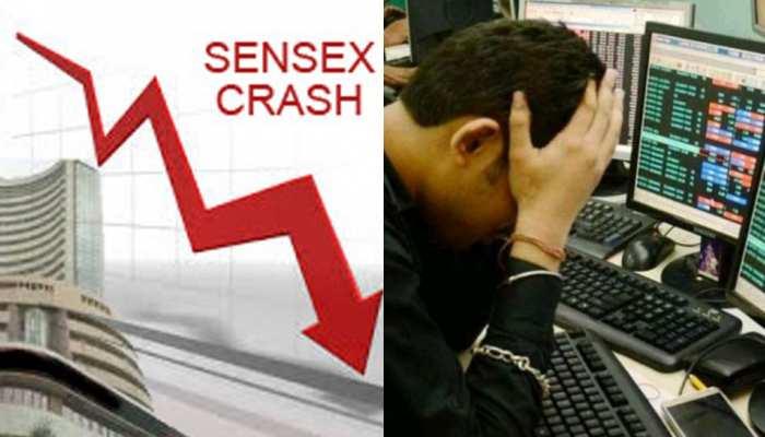 औंधे मुंह गिरा शेयर बाजार, 2008 के बाद सेंसेक्स में सबसे बड़ी गिरावट