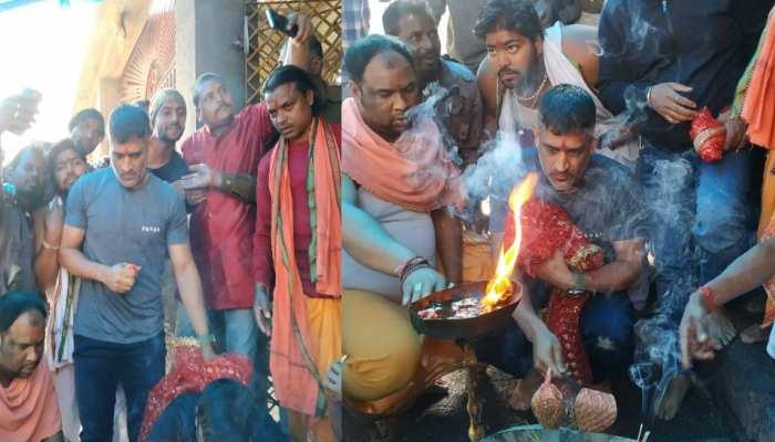 IPL से पहले पूजा करने देवड़ी मंदिर पहुंचे धोनी, तस्वीरें हो रही VIRAL