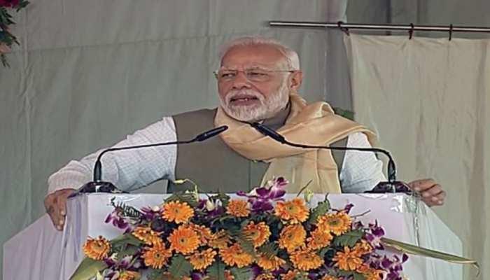 चित्रकूट में बोले PM मोदी- ''पहले बुंदेलखंड के लिए सिर्फ पैकेज घोषित होते थे, अब पाई-पाई मिलता है''