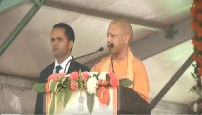 CM योगी बोले- ''बुंदेलखंड में बनने वाली तोप दुश्मनों की छाती पर गरजेगी''