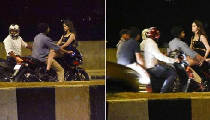 बाइक पर देर रात इस अंदाज में नजर आईं ये बॉलीवुड एक्ट्रेस, तस्वीरों ने लगाई इंटरनेट पर आग