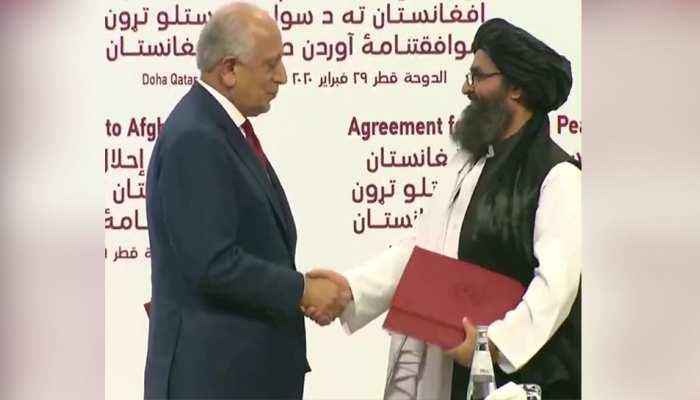 अमेरिका और तालिबान के बीच दोहा में हुआ शांति समझौता, फिर भी US ने जोड़ दी ये 'शर्तें'