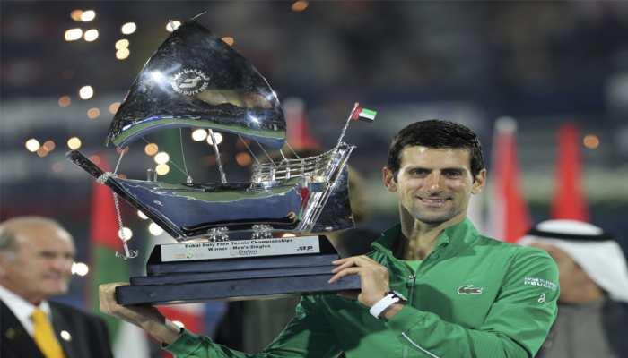 सर्बिया के नोवाक जोकोविच की दुबई टेनिस चैंपियनशिप में बादशाहत