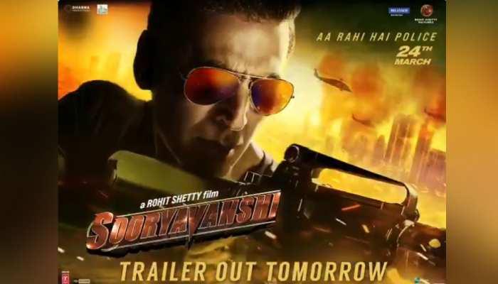 दमदार है अक्षय कुमार की फिल्म 'Sooryavanshi' का मोशन पोस्टर, जानिए किस दिन आएगा ट्रेलर