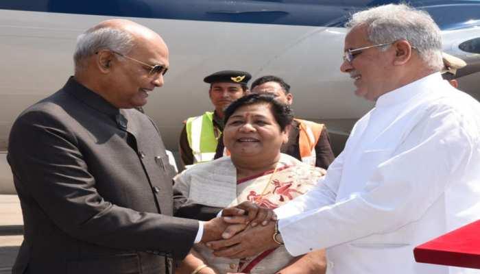 2 दिवसीय छत्तीसगढ़ दौरे पर राष्ट्रपति कोविंद, हाई कोर्ट के न्यायधीशों और BJP नेताओं ने की मुलाकात