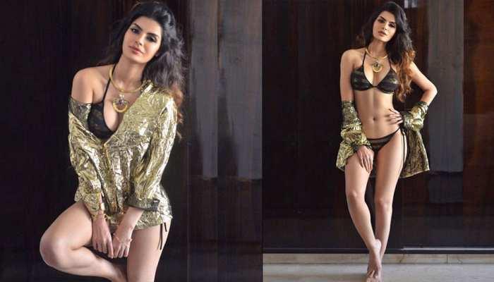 Bigg Boss fame Sonali Raut flaunts her figure in Black Bikini pics viral