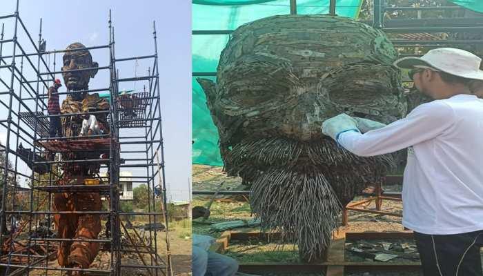 'कबाड़' से बनाया जा रहा महात्मा गांधी और विनोबा भावे का स्टेच्यू, जानिए क्या है खासियत