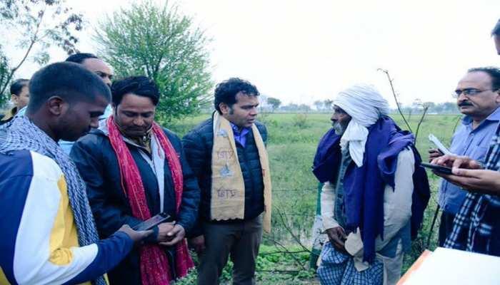मथुरा: किसानों को ओलावृष्टि से हुए नुकसान का मंत्री श्रीकांत शर्मा ने लिया जायजा, सर्वे के बाद 3 दिन में मांगी रिपोर्ट