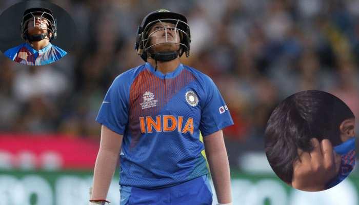 Women's T20 WC: हार के बाद मैदान पर रोतीं नजर आईं शेफाली वर्मा, कप्तान ने यूं बंधाया ढाढस