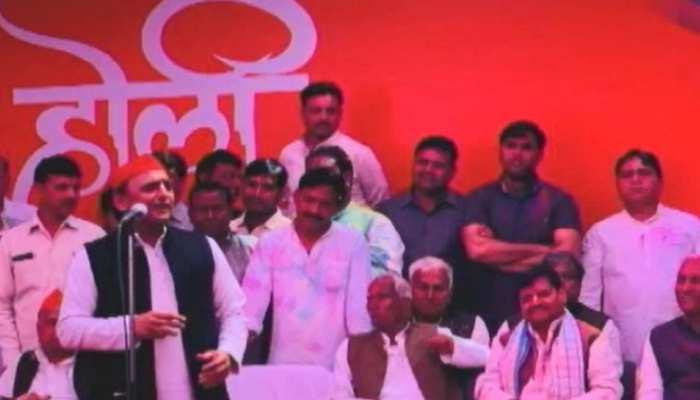 इटावा: 'होली मिलन' पर सियासी रंग, क्या BJP के खिलाफ चाचा-भतीजा दिखेंगे संग