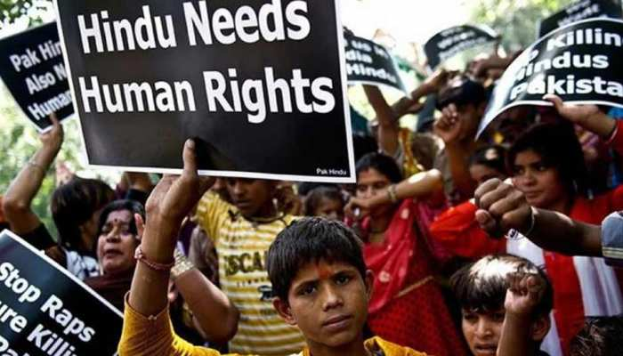 कराची में हिंदू दंपति का अपहरण, किडनैपिंग के खिलाफ हिंदुओं का सड़क पर प्रदर्शन