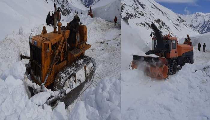 खुशखबरी: बहुत जल्द खुलेगा श्रीनगर-लेह राष्ट्रीय राजमार्ग, रास्ते से हटाई जा रही बर्फ