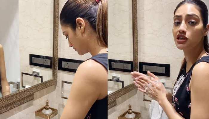 VIDEO: हाथ धोना सिखा रहीं Nusrat Jahan से हो गई ये चूक, लोगों ने दे डाली ऐसी सलाह