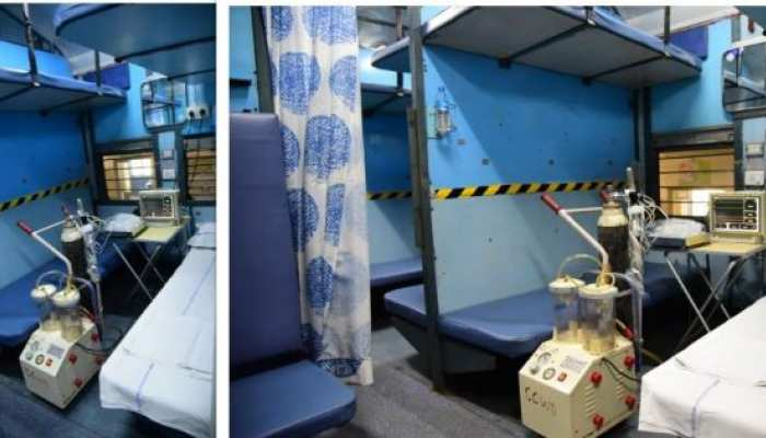isolation center in train boggy