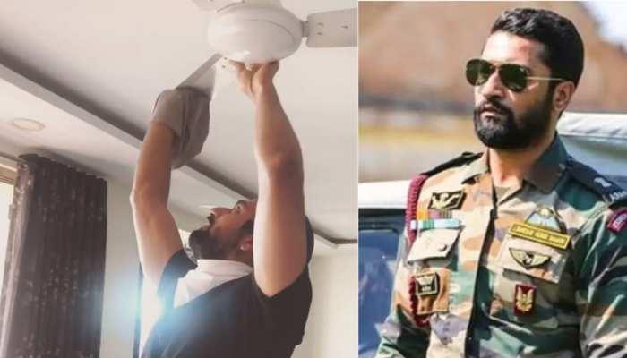 Entertainment News: VIDEO में घर का पंखा साफ करते दिखे Vicky Kaushal, तो लोग पूछने लगे 'URI' वाला ये डायलॉग