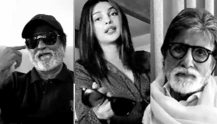 रिलीज हुई अमिताभ बच्चन, रजनीकांत, प्रियंका चोपड़ा की फिल्म, एक साथ दिखा फिल्म इंडस्ट्री परिवार